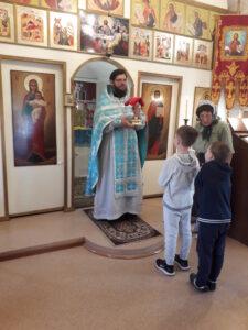 Настоятель иерей Сергий Беляков отслужил Всенощное бдение и праздничную Божественную литургию в церкви в честь Архангела Божия Михаила с. Вирга