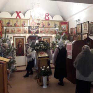 В Рождественский Сочельник в нашей церкви  совершено богослужение