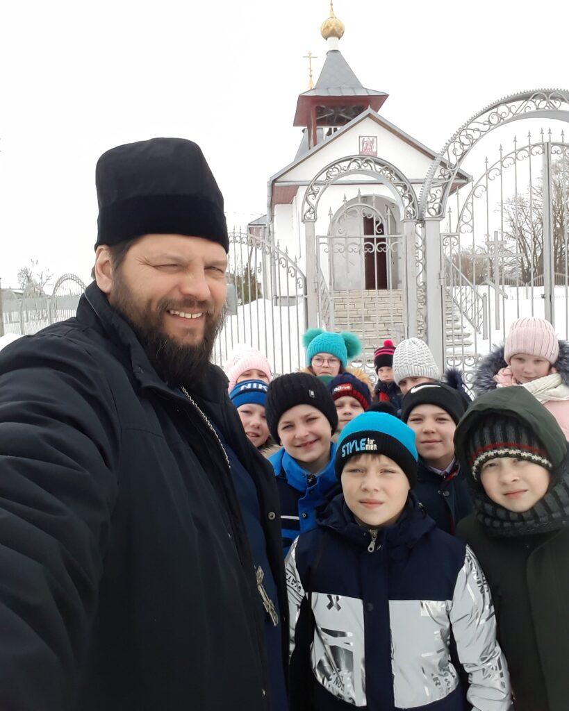 Беседа иерея Сергия Белякова с учащимися средней общеобразовательной школы села Вирга о Великом Посте