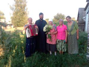 80 - летний юбилей прихожанки церкви Архангела Михаила с. Вирга Левиной Нины Герасимовны