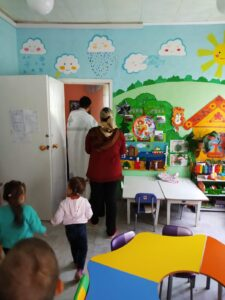 Священник посетил воспитанников детского сада в селе Вирга